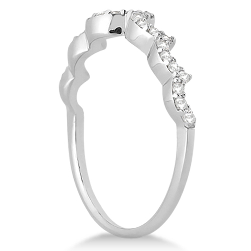 Heart Shape Diamond Engagement & Wedding Ring Palladium (0.50ct)