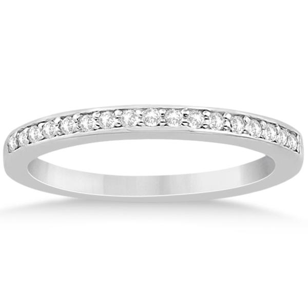 Petite Half-Eternity Diamond Bridal Set in 14k White Gold (0.31ct)