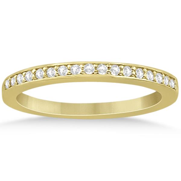 Petite Half-Eternity Diamond Bridal Set in 18k Yellow Gold (0.31ct)