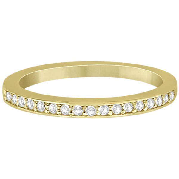 Petite Half-Eternity Diamond Wedding Band in 14k Yellow Gold (0.17ct)
