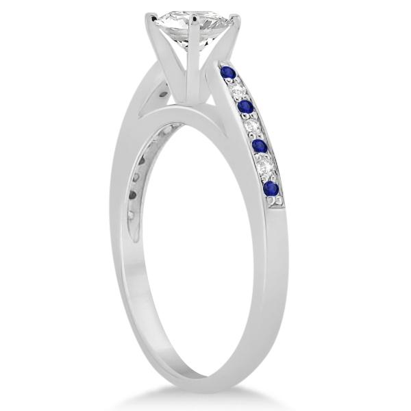 Tanzanite & Diamond Engagement Ring Palladium 0.26ct