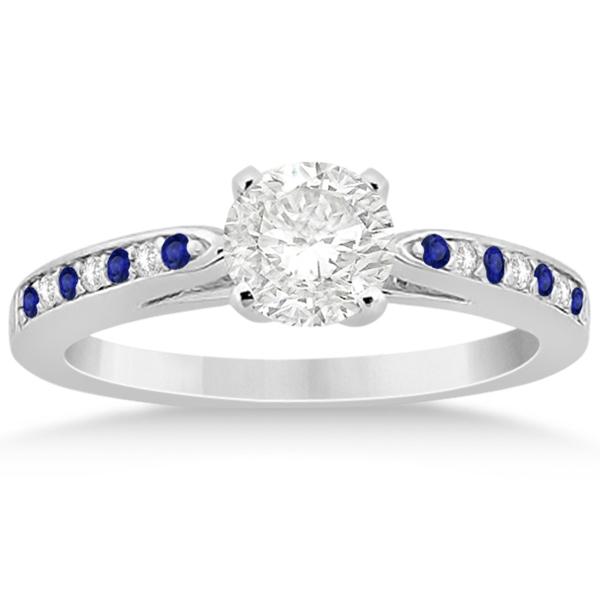 Tanzanite & Diamond Engagement Ring Set Platinum (0.55ct)