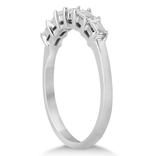 Baguette Diamond Ring Wedding Band for Women Palladium  (0.54ct)