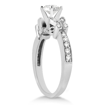 Butterfly Diamond Engagement Ring Setting Palladium (0.20ct)