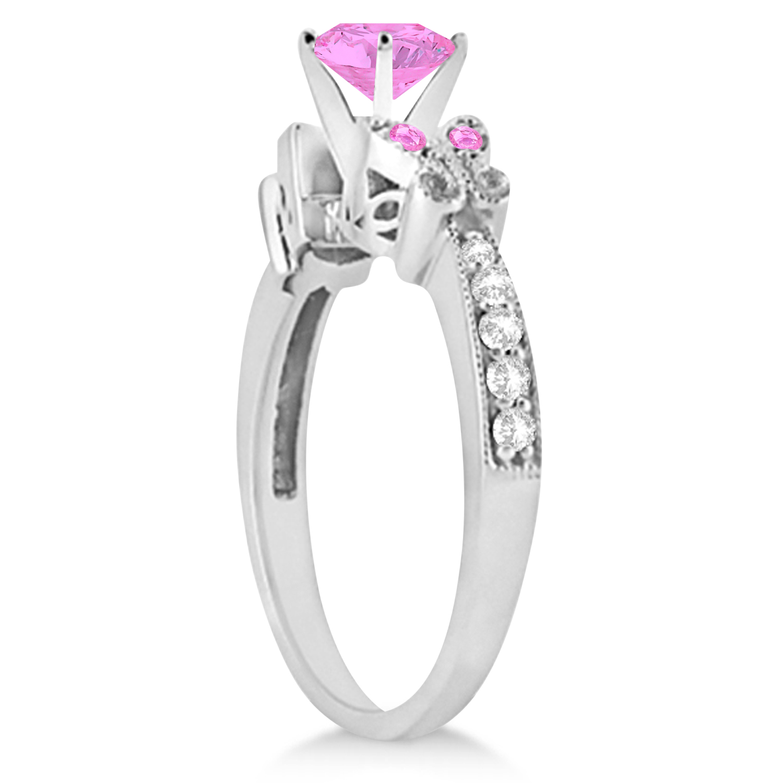 Preset Butterfly Aquamarine & Diamond Bridal Set 14k White Gold 0.95ct