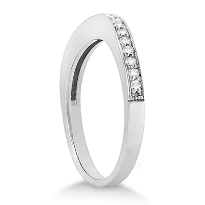 Butterfly Diamond & Garnet Bridal Set 14k White Gold (0.42ct)