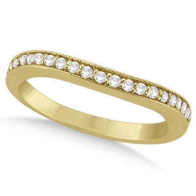 Butterfly Diamond & Pink Sapphire Bridal Set 14k Yellow Gold (0.42ct)
