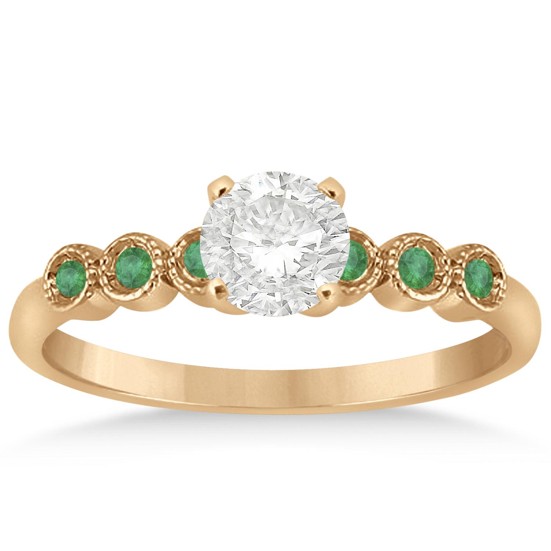 emerald bezel set engagement ring setting 18k gold 0 09ct