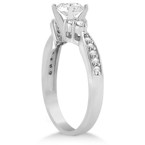 Floral Diamond Engagement Ring & Wedding Band 14k White Gold (1.06ct)