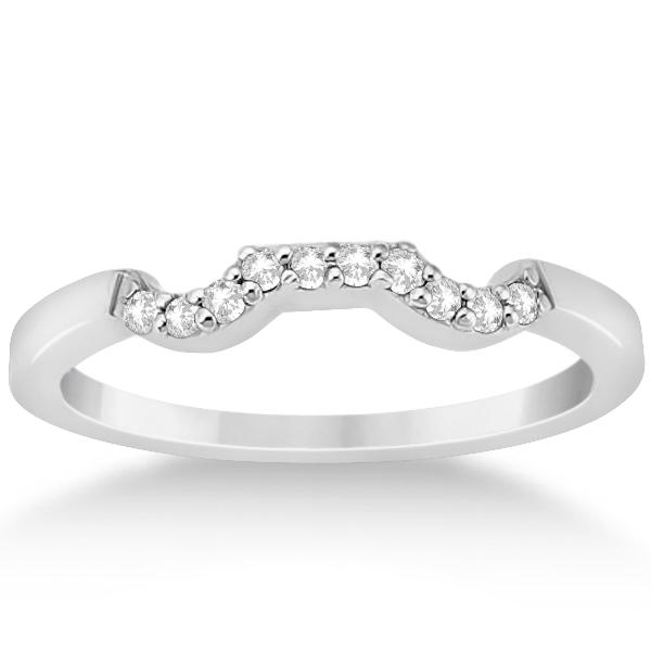 Diamond Cluster Engagment Ring & Wedding Band Platinum (0.24ct)