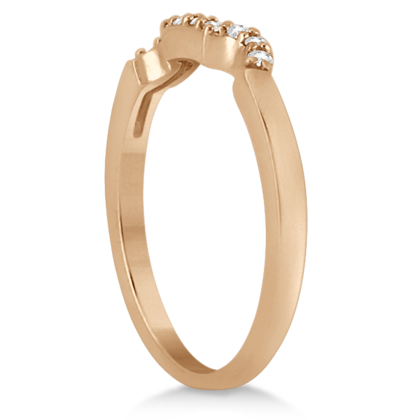 Modern Contour Diamond Wedding Band for Women 18k Rose Gold (0.10ct)