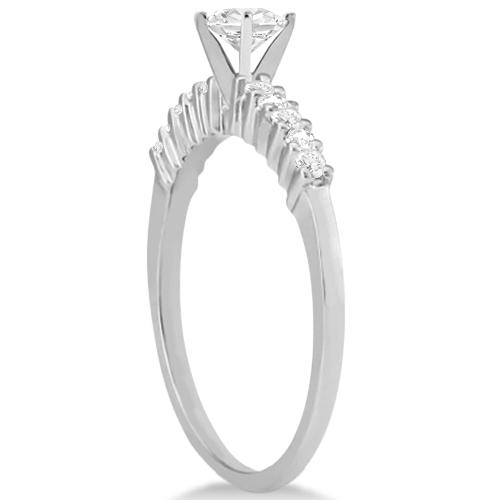 Petite Diamond Engagement Ring Setting Platinum (0.15ct)