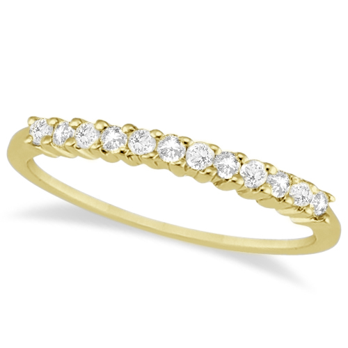 Petite Diamond Bridal Ring Set 14k Yellow Gold (0.35ct)