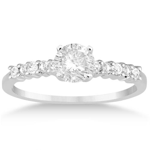 Petite Diamond Bridal Ring Set in Palladium (0.35ct)