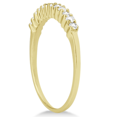 Petite Diamond Wedding Ring Band 18k Yellow Gold (0.20ct)