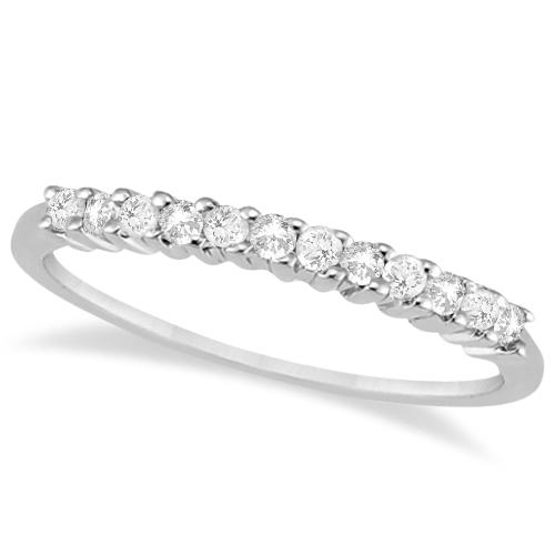 Petite Diamond Wedding Ring Band Palladium (0.20ct)