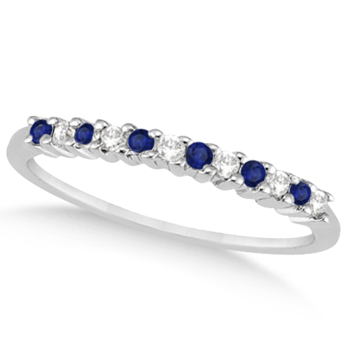 Petite Diamond & Sapphire Bridal Set Palladium (0.35ct)