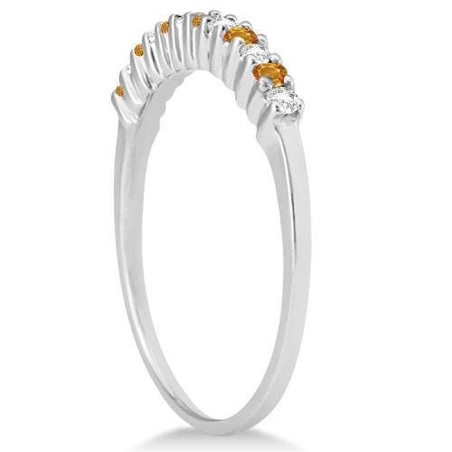 Petite Diamond & Citrine Bridal Set Platinum (0.35ct)