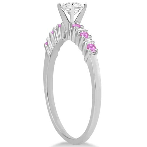 Diamond & Pink Sapphire Engagement Ring Palladium (0.15ct)