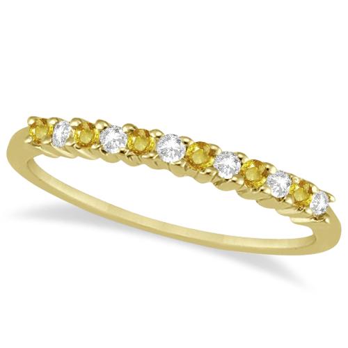 Diamond & Yellow Sapphire Bridal Set 14k Yellow Gold (0.35ct)
