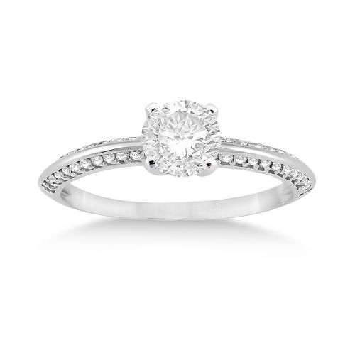 Petite Diamond Engagement Ring Setting Palladium (0.25ct)