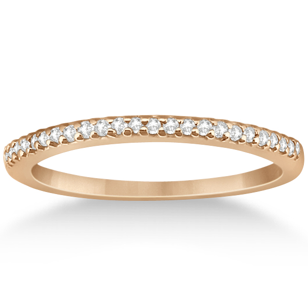 Split Shank Diamond Engagement Ring & Wedding Band 18k Rose Gold