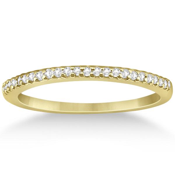 Modern Semi-Eternity Diamond Wedding Band 14k Yellow Gold (0.17ct)