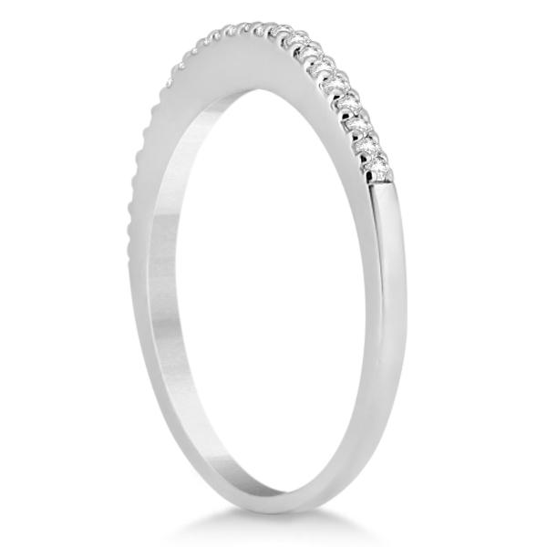Modern Semi-Eternity Diamond Wedding Band 18k White Gold (0.17ct)