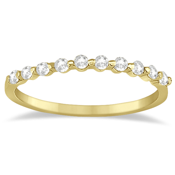 Floral Diamond Halo Engagement Bridal Set 18k Yellow Gold (0.40ct)