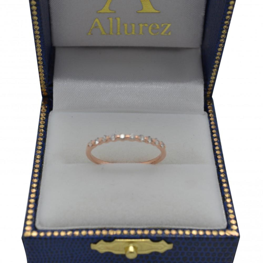 Elegant Diamond Semi-Eternity Wedding Band 14k Rose Gold (0.20ct)