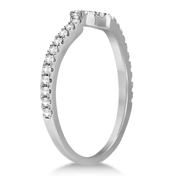 Diamond Halo Split Shank Engagement Ring Bridal Set Palladium (0.67ct)