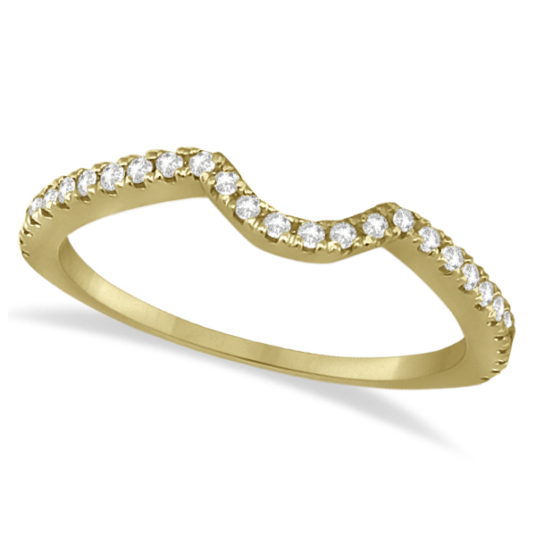 Bridal Contour Diamond Wedding Band 14k Yellow Gold (0.21ct)