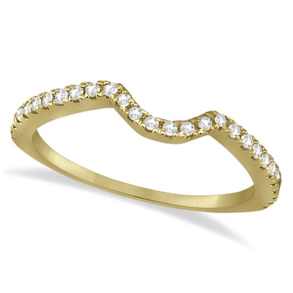 Bridal Contour Diamond Wedding Band 18k Yellow Gold (0.21ct)