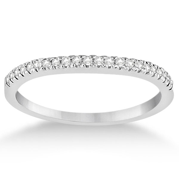 Angels Halo Pave Set Diamond Engagement Ring & Wedding Band Platinum