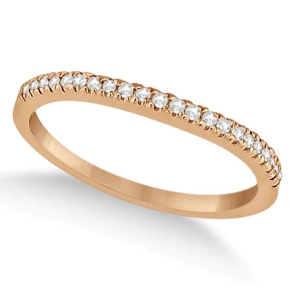 Modern Half-Eternity Diamond Engagement Ring 14k  Rose Gold (0.17ct)