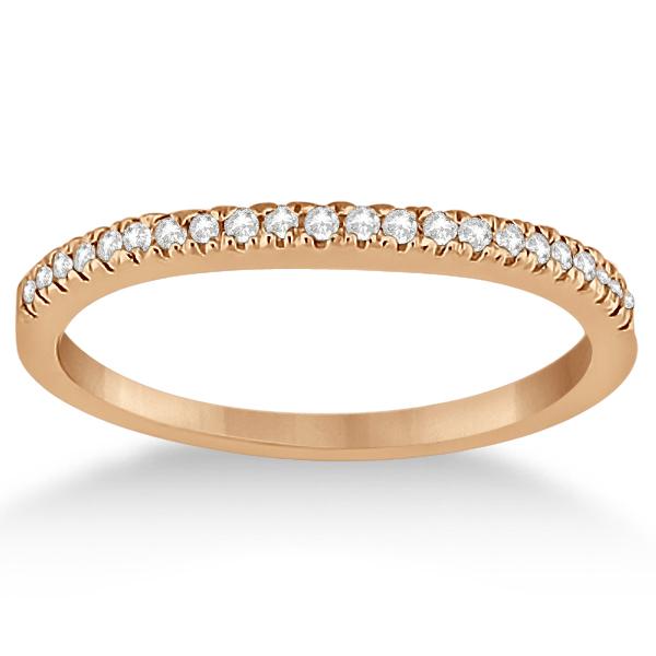 Modern Half-Eternity Diamond Engagement Ring 18k Rose Gold (0.17ct)