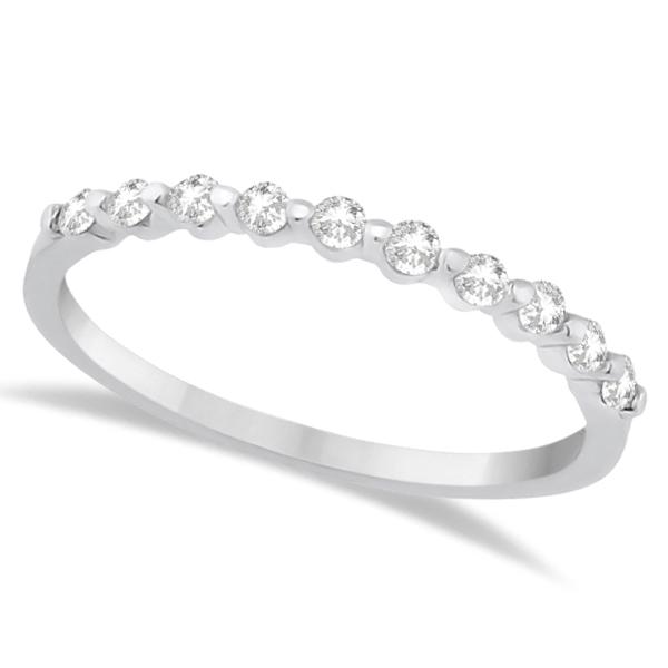 Halo Diamond Engagement Ring & Wedding Band 18K White Gold (0.56ct)