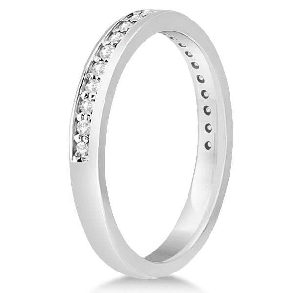 Modern Flower Halo Diamond Engagement Set 14k White Gold (0.50ct)
