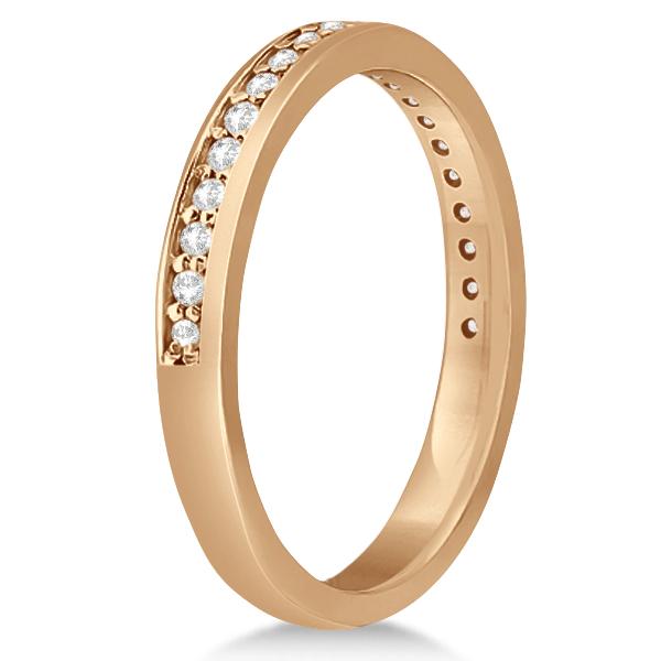 Modern Flower Halo Diamond Engagement Set 18k Rose Gold (0.50ct)