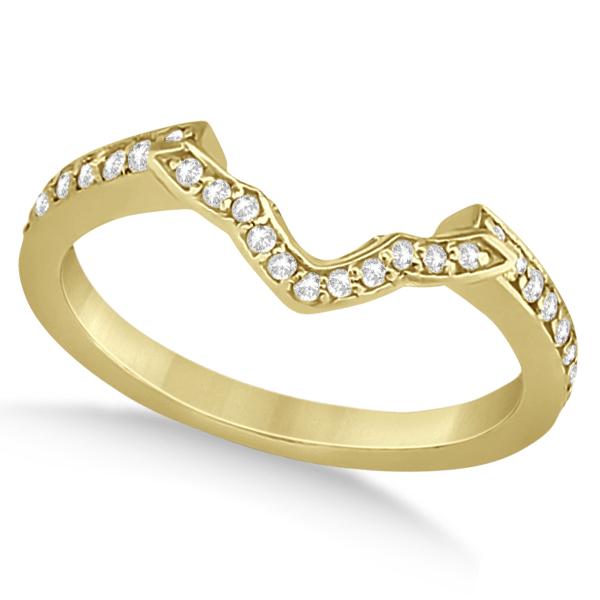 Halo Diamond Star Engagement Ring Wedding Set 14K Yellow Gold (0.48ct)
