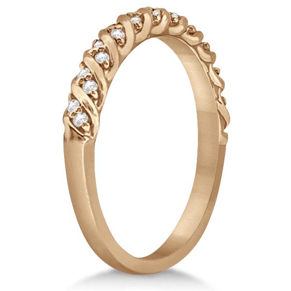 Diamond Rope Wedding Band in 14k Rose Gold 017ct Allurez