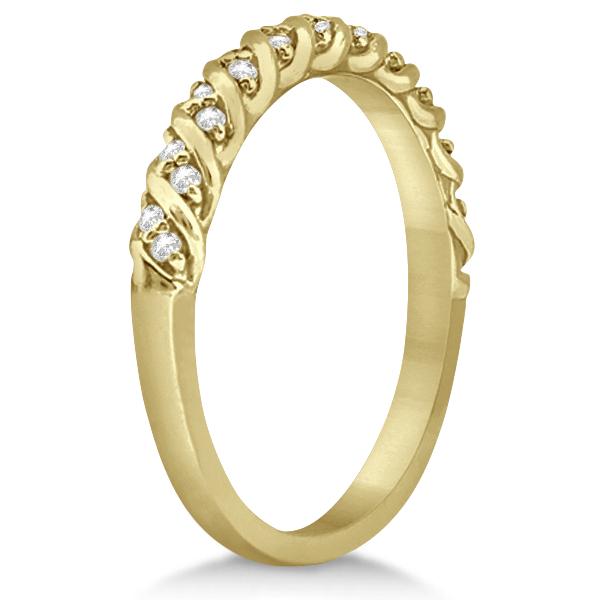 Diamond Rope Wedding Band in 18k Yellow Gold (0.17ct)