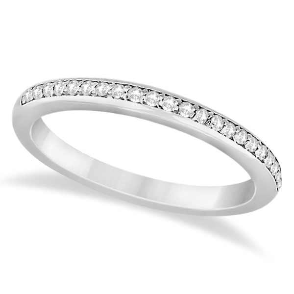 Halo Diamond Floral Engagement Ring and Band 14k White Gold (0.48ct)