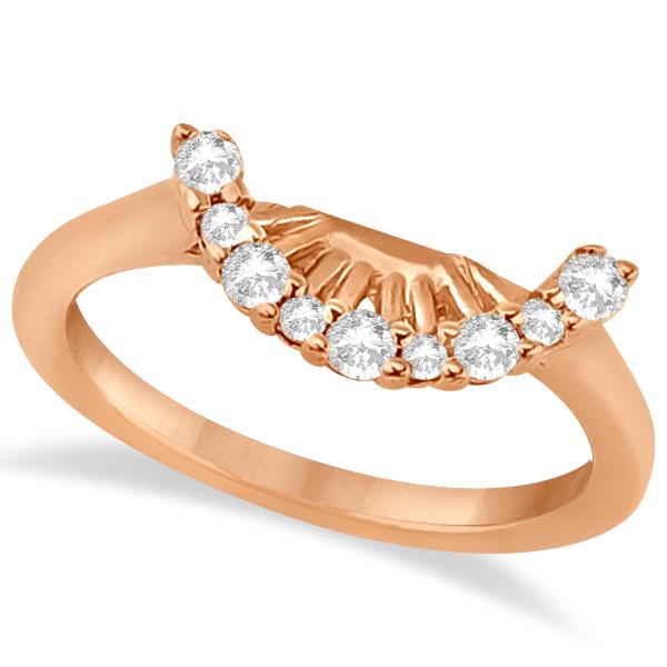 Contour Diamond Wedding Band 14k Rose Gold Prong Setting (0.19ct)