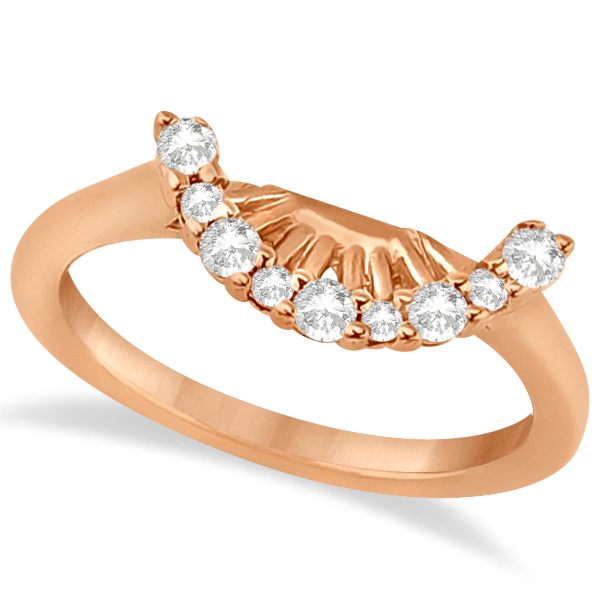 Contour Diamond Wedding Band 18K Rose Gold Prong Setting (0.19ct)