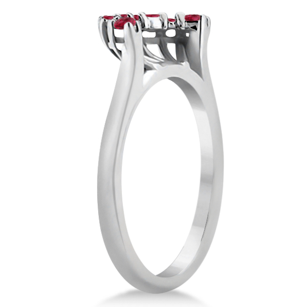 Ruby Contour Gemstone Bridal Wedding Band Platinum (0.40ct)
