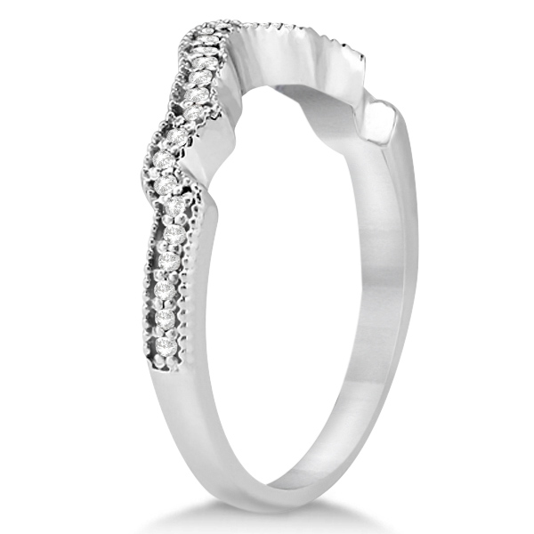 Contour Band Diamond Wedding Band Platinum (0.15ct)