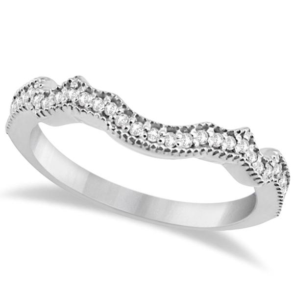 Butterfly Diamond & Sapphire Engagement Set Platinum (0.50ct)
