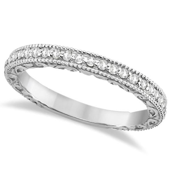 Square Halo Wedding Band & Engagement Ring 14kt White Gold (0.52ct.)