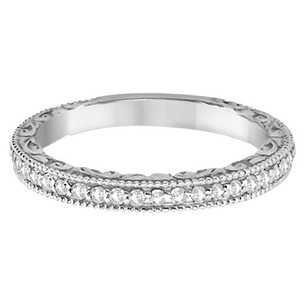 Square Halo Wedding Band & Engagement Ring 18kt White Gold (0.52ct.)